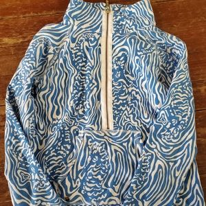 Lilly Pulitzer  blue and white seahorse pullover